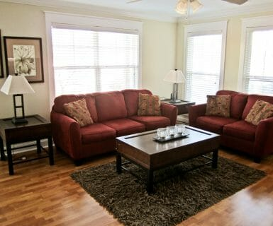 2 Bedroom Flat Family Room - Woodlands of Charlottesville