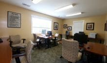 Meeting/business center with free wifi at the Woodlands of Charlottesville.