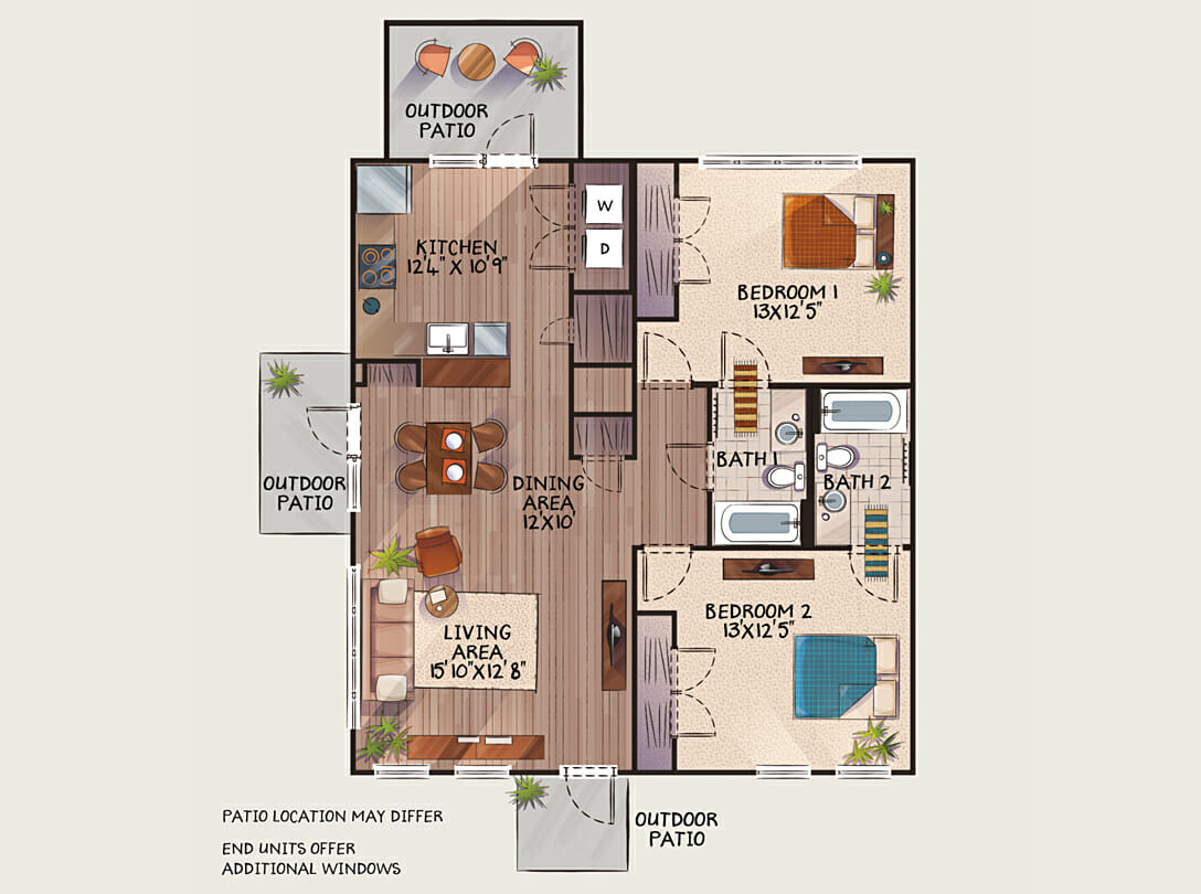 Private two bedroom flat at Woodlands of Charlottesville