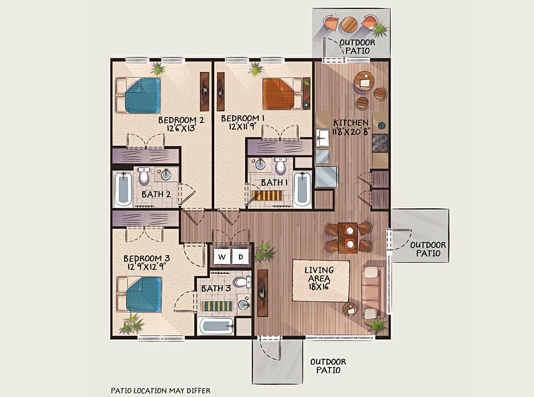 3 Bedroom spacious apartment close to downtown and new Wegman's in Charlottesville, VA
