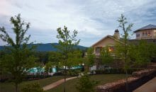 Scenic views from the clubhouse at Woodlands of Charlottesville