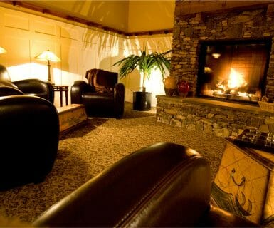 Cozy Lounge at Woodlands Luxury Apartment Rentals in Charlottesville