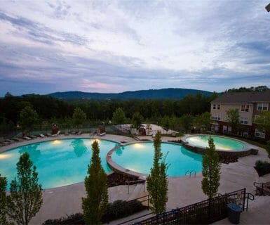 3 Tier Swimming Pool at Woodlands of Charlottesville