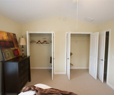 Ample closet space at Woodlands of Charlottesville apartments for rent