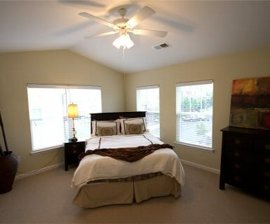Vaulted Ceilings and abundant light at Woodlands of Charlottesville apartments