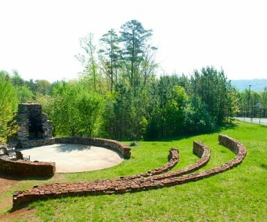The grounds at Woodlands have beautiful wood-stocked fire pits.