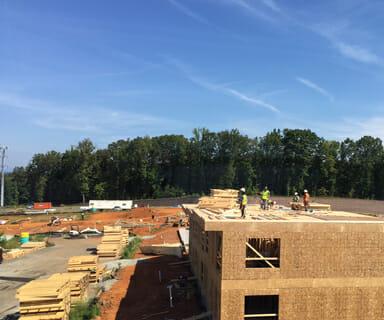 160922 construction updates Woodlands of Charlottesville Phase II