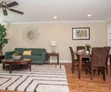 Ceiling fans & recessed lighting - Woodlands of Charlottesville